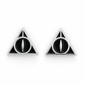 Cercei studs placati argint licenta Harry Potter Talismanele Mortii