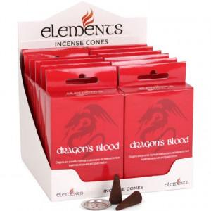 Conuri tamaie parfumata Elements - dragon blood