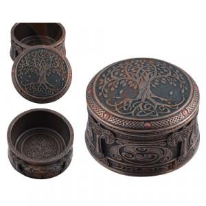 Cutie pentru bijuterii Copacul Sacru - Yggdrasil 10cm