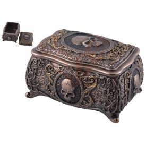 Cutie pentru bijuterii Craniu 14cm
