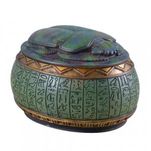 Cutie pentru bijuterii egipteana Scarabeu sacru 11cm