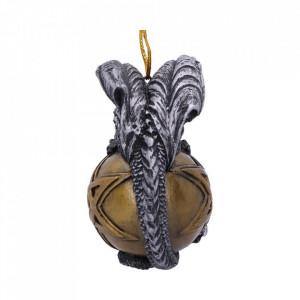 Decoratiune cu agatatoare dragon pe pentagrama Caspar - 9cm