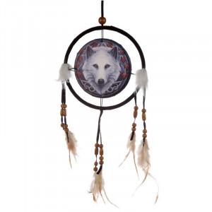 Dreamcatcher lup Gardianul Toamnei - Lisa Parker 16 cm