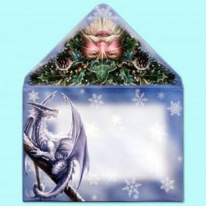 Felicitare Crăciun Lupul Protector