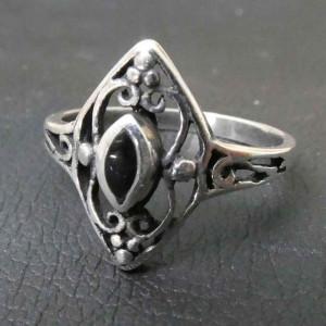 Inel argint Ornament cu onix