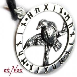 Pandantiv argint Corbii lui Odin