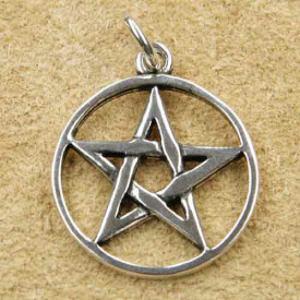 Pandantiv argint Pentagrama 3.2cm
