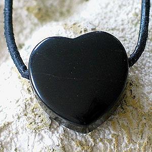 Pandantiv inima din piatra semipretioasa Onix
