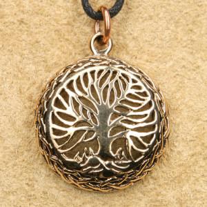 Pandantiv rotund bronz Copacul Vietii