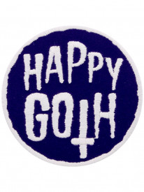 Petic textil decorativ / Patch brodat Happy Goth