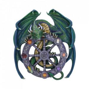Placheta decorativa perete dragon Roata Anului 30cm