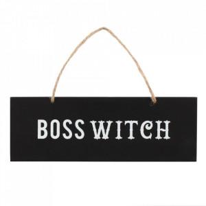 Placuta decorativa lemn Boss Witch