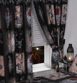 Set 2 draperii model gotic romantic Alchemy - The Story Of The Rose 168 x 182 cm