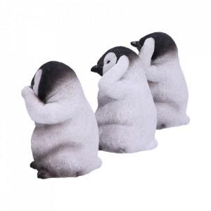 Set statuete Trei pinguini intelepti 9 cm