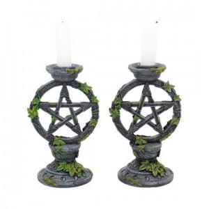 Set suporturi lumânări Pentagramele lunii