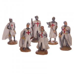 Statuetă cavaler Cruciat 8 cm