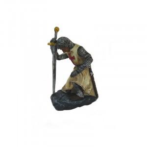 Statueta cavaler templier Îngenunchind 12 cm