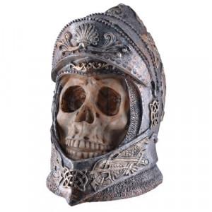 Statueta craniu Cavaler Medieval 14cm