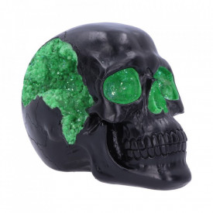 Statueta craniu Geode - verde 17 cm