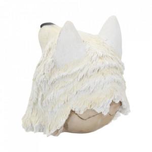 Statueta craniu Lupul nocturn 15 cm