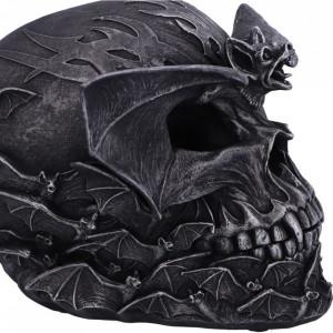 Statueta craniu sculptat Liliac 19cm