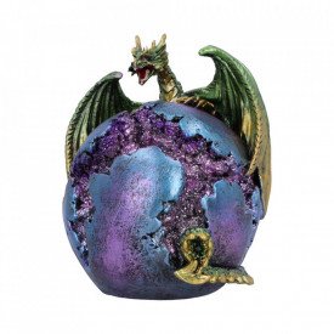 Statueta dragon Crevice Keeper (verde) 10.3 cm