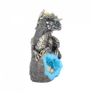 Statueta dragon Gardianul cuibului - albastru 13 cm