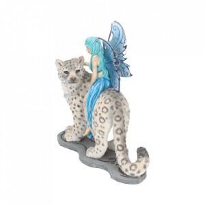 Statueta zana si leopard Hima 20 cm