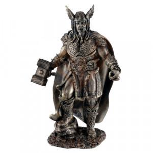 Statueta zeu nordic Thor - Zeul Tunetului 24cm