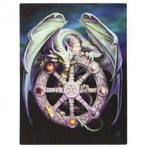 Tablou canvas dragon, Roata Anului 19x25cm - Anne Stokes