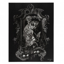 Tablou canvas gotic Widow's Weeds 25x19cm
