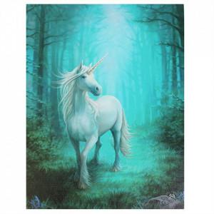 Tablou canvas Unicorn de Padure 19x25cm - Anne Stokes
