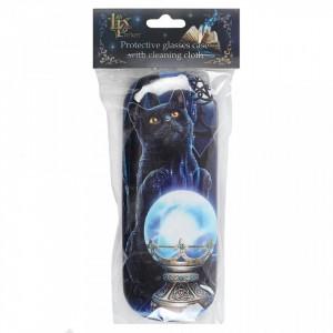 Toc pentru ochelari, design Lisa Parker, pisica neagra, Ucenica Vrajitoarei