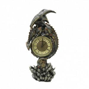 Ceas de birou cu dragon steampunk Regatul mecanic