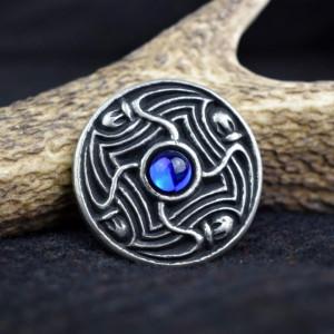 Brosa disc vikinga Lofotr - albastru