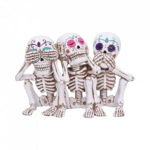 Set statuete Trei schelete intelepte Calaveras 20 cm