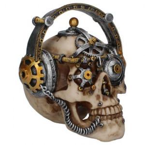 Statueta craniu steampunk Techno Talk 14.5 cm