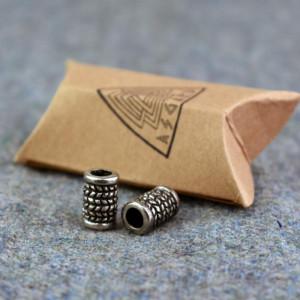 Bijuterii vikinge pentru barba/par Herringbone
