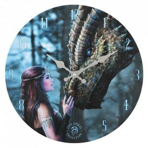 Ceas de perete din lemn A fost o data ca niciodata - Anne Stokes