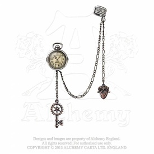 Cercel ear-cuff steampunk Ceasul Unchiului Albert