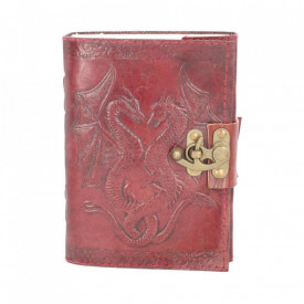 Double Dragon Leather Embossed Journal w/lock