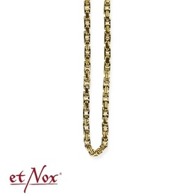 etNox - king's chain stainless steel, gold colour