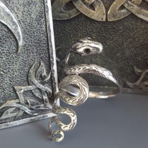 """etNox - silver ring """"Big Snake"""""""