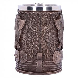 Halbă viking Drakkar - bronz