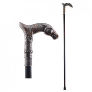 Horse head decorative walking stick