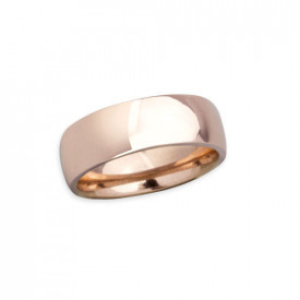 Inel otel inoxidabil stil verigheta 7 mm auriu rose lucios