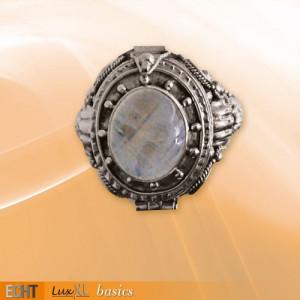 Inel Poison Ring cu piatra lunii R166M