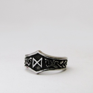 Inel viking cu runa Dagaz
