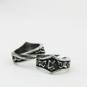 Inel viking cu runa Peorth