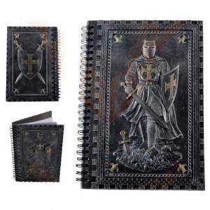 Jurnal /agenda cu coperti din rasina Cavaler Cruciat in armura